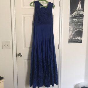 Patra Royal Blue Ball Gown Prom Black Tie Dress